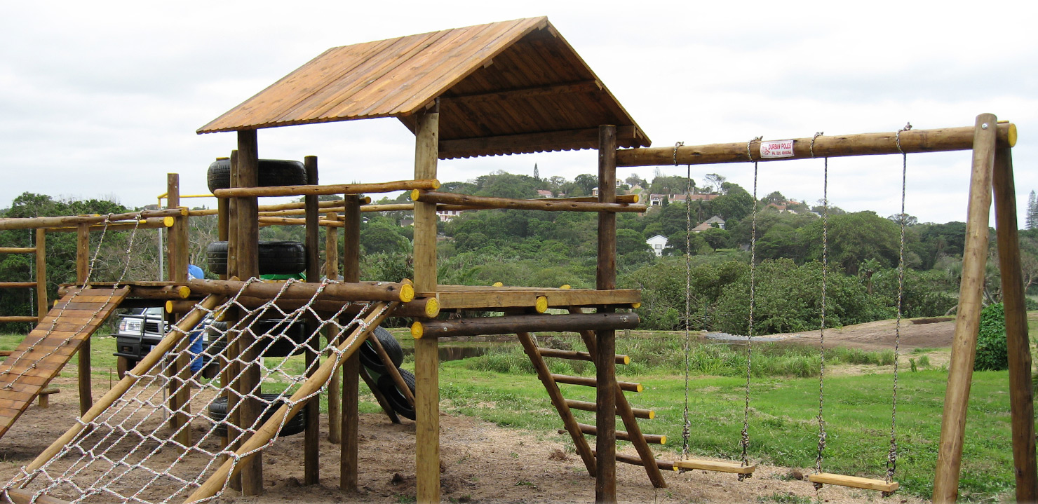 Durban Poles Jungle Gyms Picket Fencing And Garden